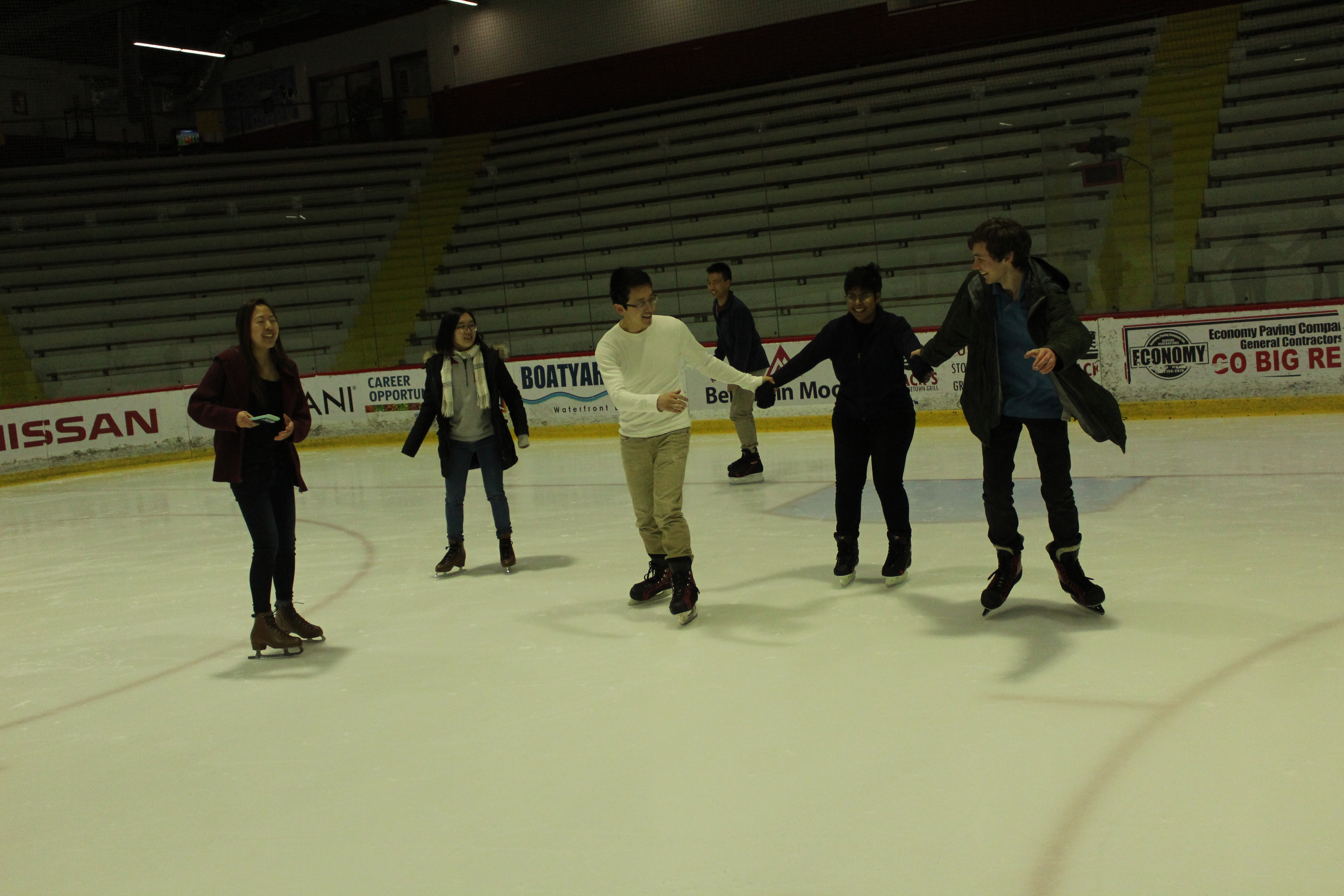 Whole group on skates